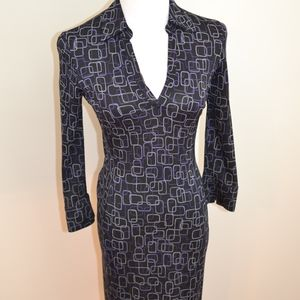 DVF Diane Von Furstenberg Silk Black Collared 4